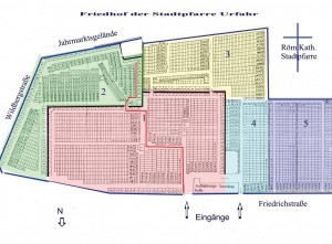 FriedplanSektoren_mit Weg_httppfarre-urfahr.dioezese-linz.atfriedhoffotoFriedplanSektoren